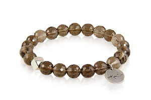 KenSuJewelry Bracelet with Smokey Quartz and Silver Spacer