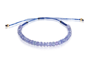 KenSuJewelry Bracelet with Tanzanite Roundel Beads