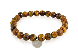 KenSuJewelry Bracelet with Tiger Eye Bead Stones