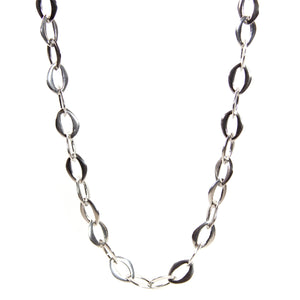 Necklace - Handmade Sterling Silver Link Chain 36""