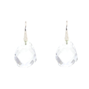 KenSu Jewelry silver earrings with crystal quartz hand made jewelry