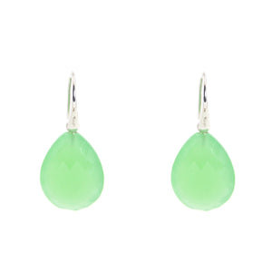 KenSu Jewelry Drop Earrings - with Green Aventurine Signature Collection Hand Made Jewelry