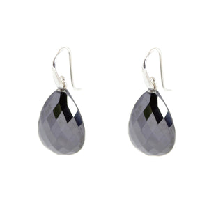 KenSu Jewelry Drop Earrings - with Hematite Signature Collection Hand Made Jewelry