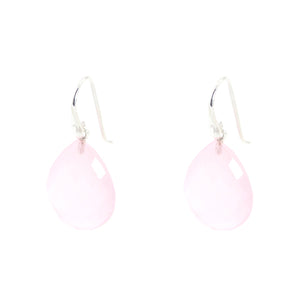 KenSu Jewelry Drop Earrings - with Rose Quartz Signature Collection Hand Made Jewelry