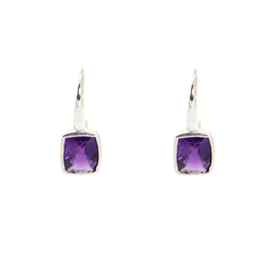 KenSu Jewelry Dangle Earrings - with Amethyst Signature Collection Hand Made Jewelry