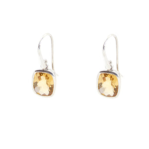 KenSu Jewelry Dangle Earrings - with Citrine Signature Collection Hand Made Jewelry