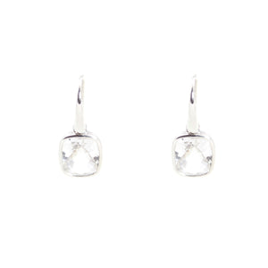KenSu Jewelry Dangle Earrings - with Crystal Quartz Signature Collection Hand Made Jewelry