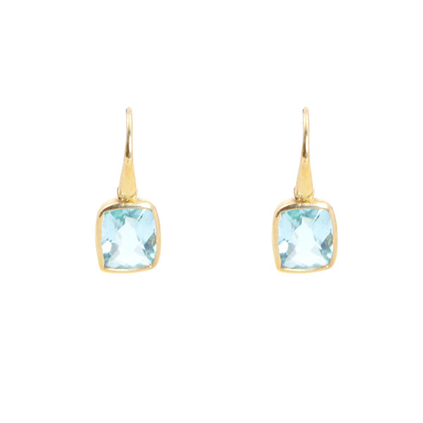 aa8aeafb5 Dangle Earrings - Hydro Blue Topaz Gold Plated Bold Collection - KenSu  Jewelry