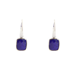 KenSu Jewelry Dangle Earrings - with Lapis Lazuli Signature Collection Hand Made Jewelry