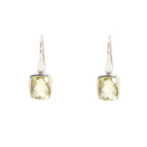KenSu Jewelry Dangle Earrings - with Lemon Quartz Signature Collection Hand Made Jewelry