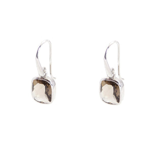 KenSu Jewelry Dangle Earrings - with Smokey Quartz Signature Collection Hand Made Jewelry