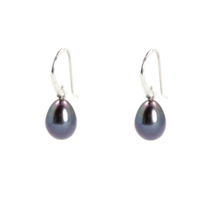 KenSu Jewelry Drop Earrings - with Black Pearl Hand Made Jewelry