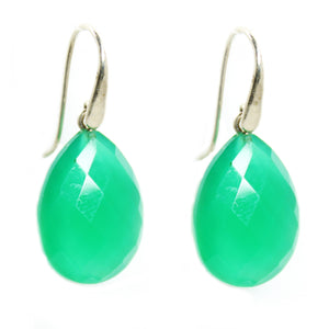 Green Agate Earrings - Signature Collection