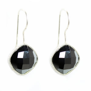 Hematite diamond shape Earrings - Signature Collection