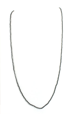 KenSu Jewelry Hematite 3mm Necklace - Signature Collection