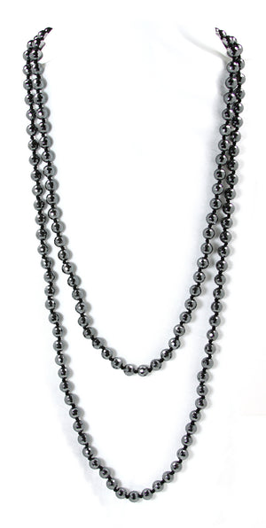 "Hematite 56"" Necklace - Signature Collection"