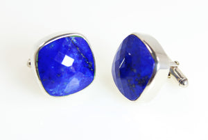 Mens Collection - Cuff Links Lapis Lazuli Sterling Silver