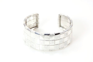 Lauhala Silver 3 line Cuff Bracelet - Signature Collection