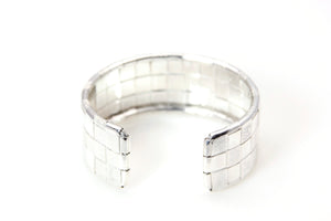 Bracelet - Cuff Sterling Silver Woven 3 Line Lauhala Collection