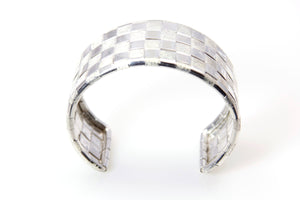 Lauhala Silver 4 line Cuff Bracelet - Signature Collection