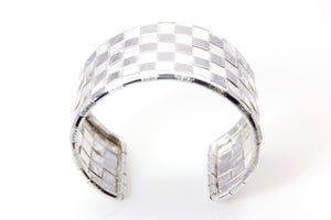 Lauhala Silver 5 line Cuff Bracelet - Signature Collection