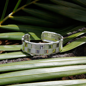 Lauhala Silver 2 line Cuff Bracelet - Signature Collection