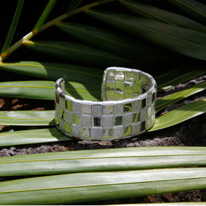 KenSu Jewelry Lauhala 3 Line Silver Cuff Signature Collection hand made jewelry
