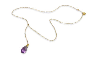 Gold Filled Necklace with Amethyst Pendant