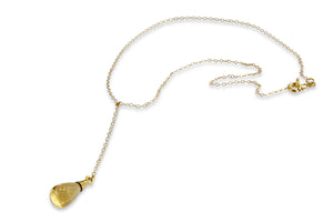 Gold Filled Chain Citrine Drop