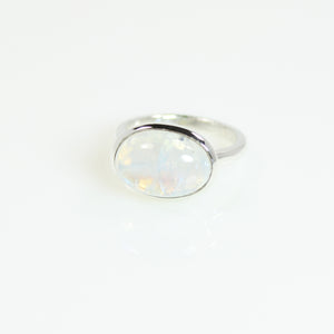 Moonstone Oval Bowl Ring - Bold Collection
