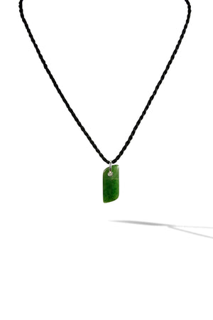 KenSuJewelry Necklace Macromen with NZ Green Jade