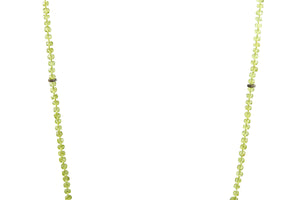 KenSuJewelry Necklace Peridot Hand cut Disk Beads with Diamond Spacers