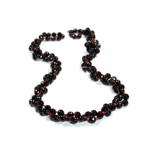 "Black Onyx Stone 56"" Necklace Red- Signature Collection"