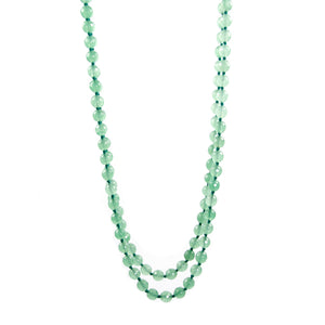 "Green Aventurine 56"" Beaded Necklace"