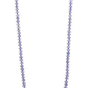 Necklace - Beaded Tanzanite 34""