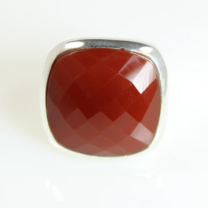Red Agate Ring - Signature Collection