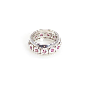 Ring - Band Pink Tourmaline Sterling Silver