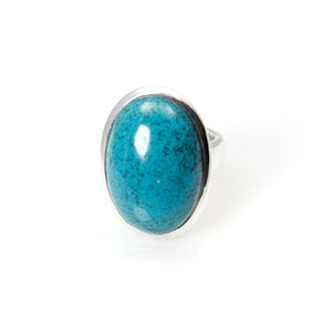 Bowl Ring Turquoise Sterling Silver