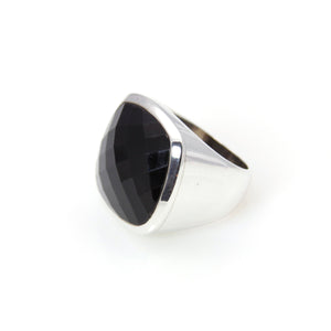 Ring - Signature Black Onyx Cushion Cut Sterling Silver