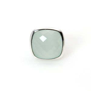 Green Chalcedony Ring - Signature Collection
