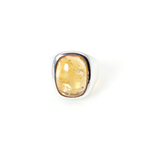 Citrine cabochon Signature Ring Sterling Silver