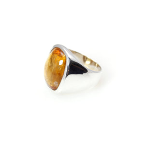 Citrine Signature Ring Sterling Silver