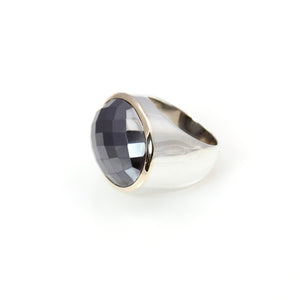 Ring - Signature Hematite Oval Cut 14ct Gold Sterling Silver
