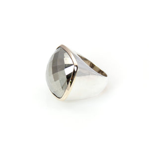 Pyrite Ring 14ct Gold Sterling Silver Signature Collection