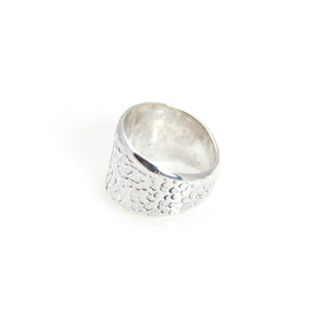 Ring - Band Hammered Sterling Silver