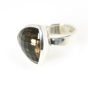 Smokey Topaz Triangle Bowl Ring - Bold Collection