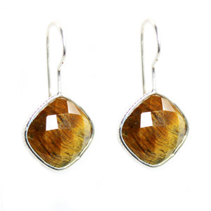 Tiger Eye diamond shape Earrings - Signature Collection