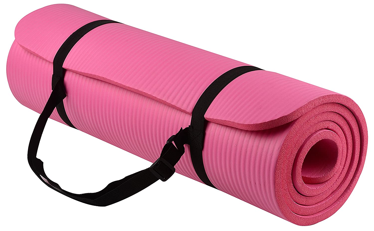 Fitbabe GoYoga All-Purpose 1/2-Inch Extra Thick High Density Anti-Tear Exercise Yoga Mat with Carrying Strap
