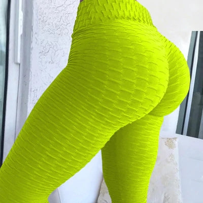 Nancy Neon Brazilian Textured Fitbabe Scrunch Butt Lift leggings