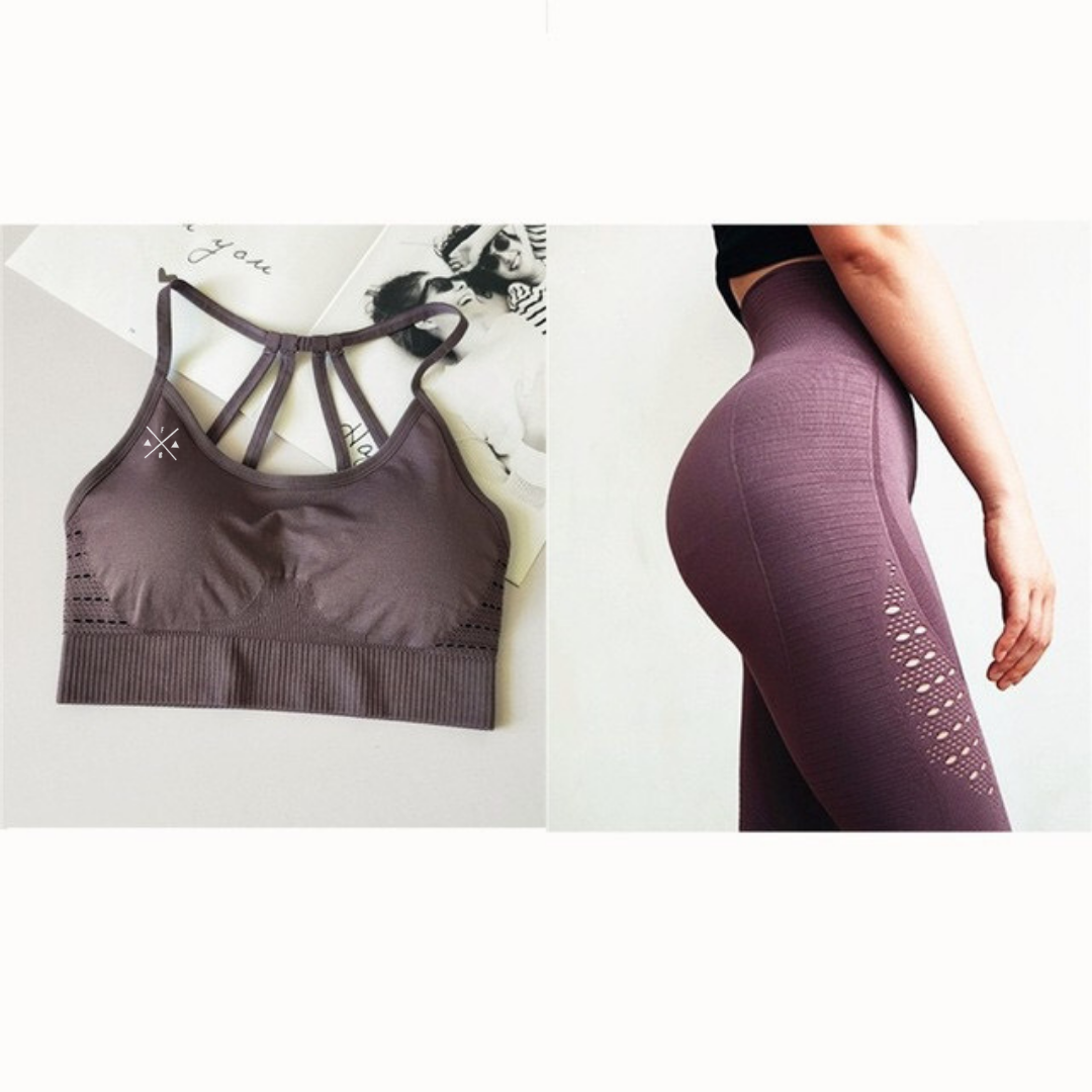 Brenda Fitbabe Seamless Set Sports Bra And Leggings
